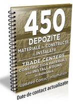 Lista cu principalele 450 depozite de materiale de constructii /instalatii 2016