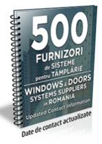 Lista cu principalii 500 furnizori de sisteme pentru tamplarie 2016