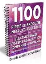 Lista cu 1100 de firme de executie si/sau proiectare de instalatii electrice 2016