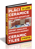 Analiza importurilor de placi ceramice si obiecte sanitare - 9 luni 2016