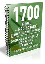 Lista cu 1700 de birouri de arhitectura si firme de proiectare 2017