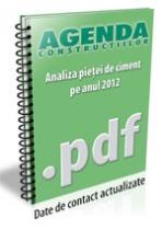 Analiza pietei de ciment, betoane si agregate pe anul 2012