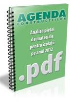 Analiza pietei de materiale pentru izolatii pe anul 2012