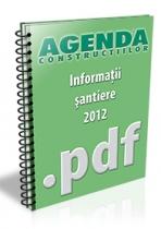 Informatii despre santiere, lucrari si investitii - august 2012