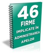 Lista cu 46 de firme implicate in administrarea retelelor de apa-canal