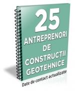 Lista cu principalii 25 de antreprenori de constructii geotehnice