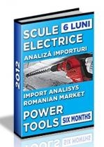 Analiza importurilor de scule electrice - semestrul I 2012