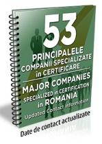 Lista cu principalele 53 de companii specializate in certificare