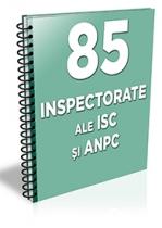 Lista cu principalele 86 inspectorate ale ISC si ANPC