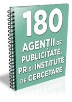 Lista cu 180 de agentii de publicitate, agentii PR si institute de cercetare
