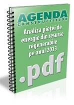 Analiza pietei de energie din resurse regenerabile pe anul 2013