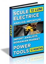Analiza importurilor de scule electrice - 12 luni 2012