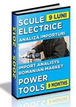 Analiza importurilor de scule electrice - 9 luni 2013