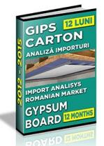 Analiza importurilor de placi si elemente din gips-carton - 12 luni 2014