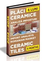 Analiza importurilor de placi ceramice si obiecte sanitare - S1 2015