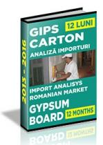 Analiza importurilor de placi si elemente din gips-carton - 2015