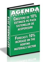 Analiza pietei de sisteme pentru acoperisuri si invelitori pe anul 2018