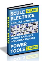 Analiza importurilor de scule electrice - 2018