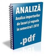 Analiza importurilor de lacuri si vopsele in semestrul I 2010