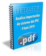 Analiza importurilor de sisteme din PVC - 9 luni 2010