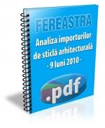 Analiza importurilor de sticla arhitecturala - 9 luni 2010