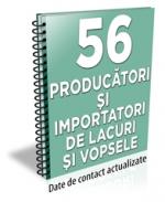Lista cu principalii 56 de producatori de lacuri si vopsele