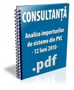 Analiza importurilor de sisteme din PVC - 12 luni 2010