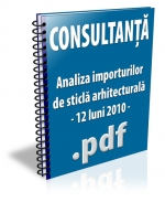 Analiza importurilor de sticla arhitecturala - 12 luni 2010