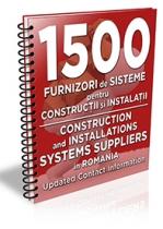 Lista cu principalii 1.500 furnizori de materiale pentru constructii/instalatii 2019