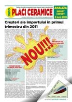 Analiza importurilor de placi ceramice si obiecte sanitare - trimestrul I 2011